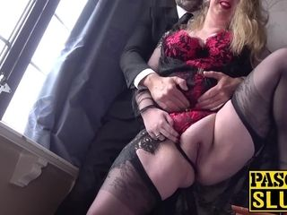 Plowed UK mega-slut kitty takes Pascal milky and his fuckpole firm