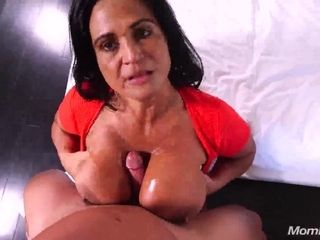 Point of view breastjob and romp with huge-chested Latina mature mommy - jizz flow