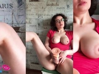 'Sexy cougar jerk vagina fuck stick in the kitchen'