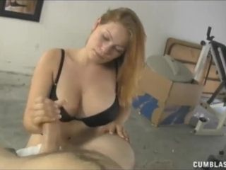 Chesty ginger-haired cougar jerks A good-sized firm beef whistle