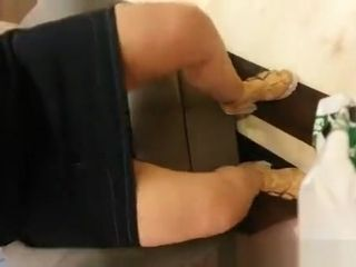 Exhibitionist wife in shopping mall