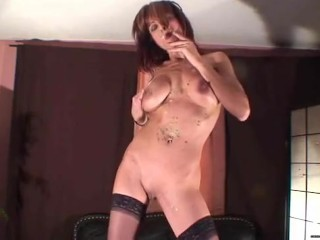 Smoking full-grown nonsensical wealth cum messy with an increment of squirting pussy