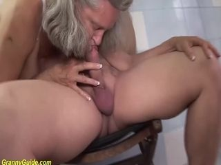 Gross huge-chested 83 years elderly mother harsh nailed