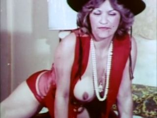 Mature and busty retro slut is all by herself and horny
