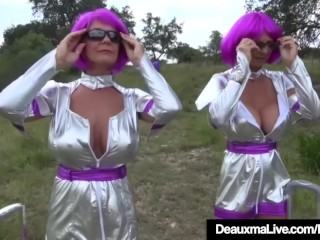 Lord it over adult Aliens Deauxma & Brooke Tyler try crack making love!