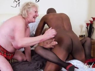 AgedLovE trio brit Matures and xxx fuckfest