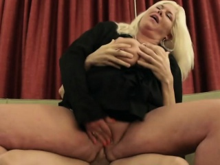 Pretty GILF got slammed by younger cock