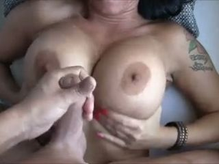 I fuck huge tits of my new wife and cum on her