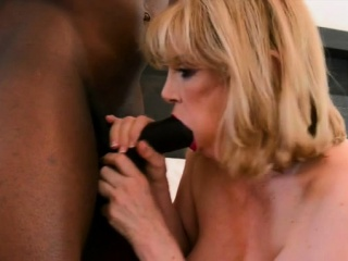 Chubby knockers milf interracial with an increment of cumshot