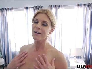 Stepson slipped fingers purchase stepmoms matured muddy pussy