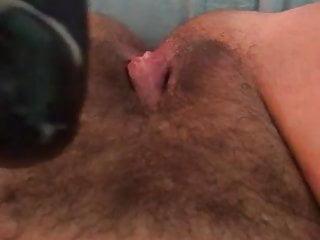 Large black cock fake penis plows large honeypot