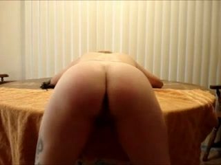 My tattooed sex-slave wife prefers spanking before fuck