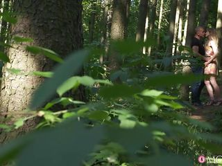 Horny Milf Sucks His Cock In The Forest