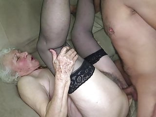 Grandmas pussy is stained